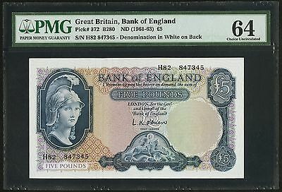 Great Britain 5 Pounds 1961 372 B280 PMG Choice Uncirculated 64 UNC England