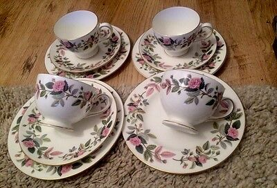 Wedgwood Hathaway Rose  3 Trios & Spares Cup & Side Plate Excellent Condition