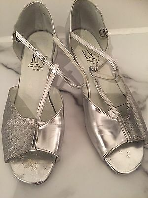 Ladies  Roch Valley  Silver Dance Shoes  Size  39 Or Uk 6