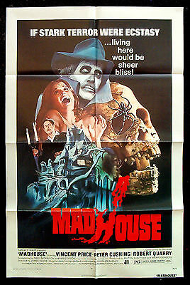 MADHOUSE original 1974 US one-sheet VINCENT PRICE