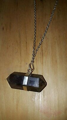 Wiccan genuine amethyst pendant with necklace
