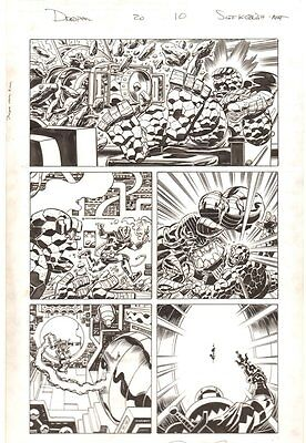 Deadpool #20 p.10 Thing and Mangog in a Kirby-esque World 2014 by Scott Koblish