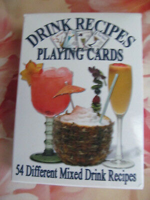 54 Different Mixed Drink Recipe PLAYING CARDs in box