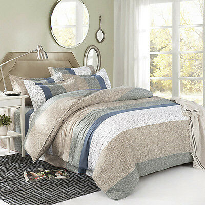 Marble Grey Single Double Queen King Size Bed Set 2 Pillowcase Quilt/Duvet Cover