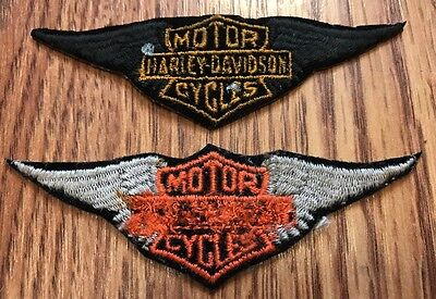 Lot of 2 Harley-Davidson Bar & Shield Wings Patch