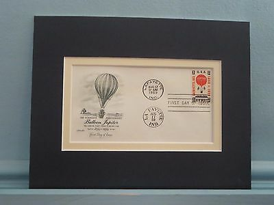 1859 - First Balloon Mail Flight  & the First Day Cover of its own stamp