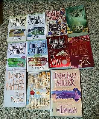 Linda Lael Miller - Lot of 11 books- Two Brothers- Knights- Here and Then- Vow