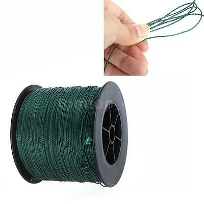 Durable 500M 200LB 1mm Fishing Line Strong Braided 4 Strands Dark green A2K0