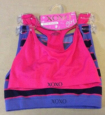 XOXO Teen Girl 2 Pack Active Sport Bras Size 34/L MSRP $20