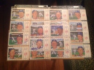 1961 New York Yankees S. Rini 20 Postcards, All Signed, Mantle Ford Houk Boyer