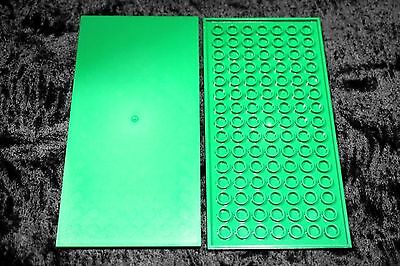 LEGO Lot of 50 Green 1x4 smooth flat plates NEW finishing tiles