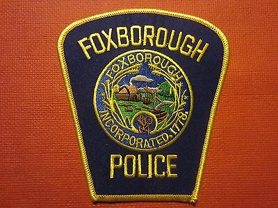 Collectible Massachusetts Police Patch Foxborough Home of the Patriots New