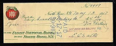 1917  The First National Bank - North Rose, N.y.