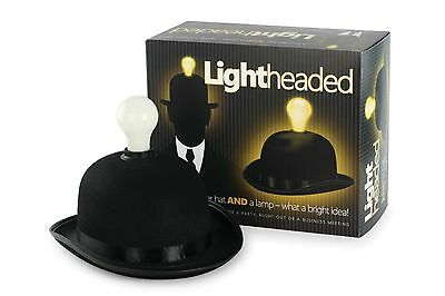 Bowler Hat with a built in LED Light-WHAT A BRIGHT IDEA!