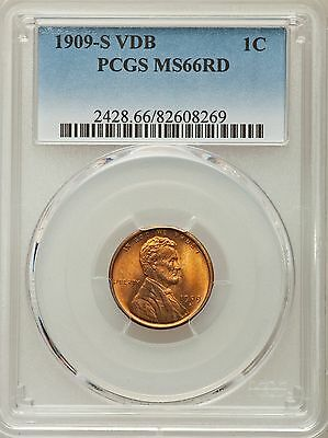 1909-S VDB Lincoln Wheat Cent 1C - PCGS MS66 RD