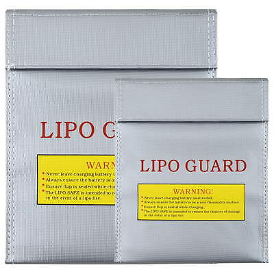 RC LiPo Li-Po Battery Fireproof Safety Guard Safe Bag Charging Sack 18x23 ZD