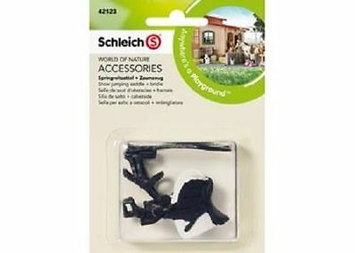 Schleich Model Horse Accessory 42123 - Showjumping Saddle & Bridle NEW