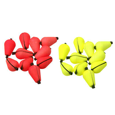 12Pcs Floating Foam Strike Indicator Accessories for Fly Fishing -Red&Yellow