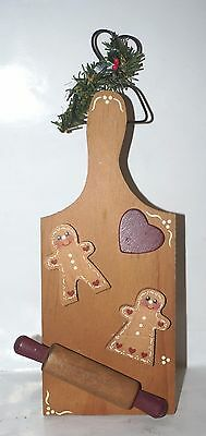 Wang's Int Old Fashion Gingerbread Cookies on cutting board CHRISTMAS Ornament