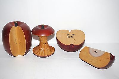 Vintage Solid wooden apples Hand Crafted Collection Decor