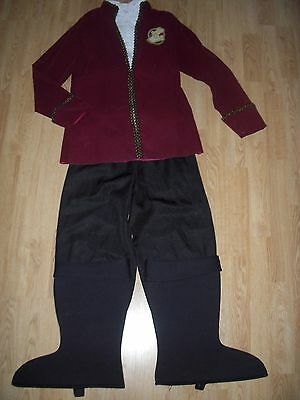 Disney Store CAPTAIN HOOK Boys COSTUME 10/12 Pirate HALLOWEEN Fancy Dress Up