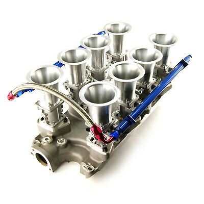 fits Ford 351W Windsor Downdraft EFI Stack Intake Manifold System Satin