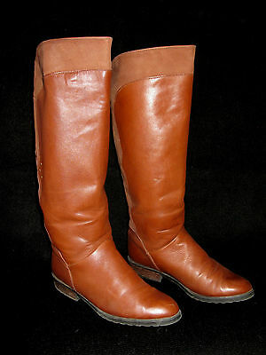 Vintage 1980's Santana Canada Tall Boots - Size 8-1/2 - Leather/Lined 8.5 Womens