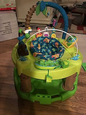 Evenflo Exersaucer Triple Fun Stationary Jumper - Green/yellow/blue/brown