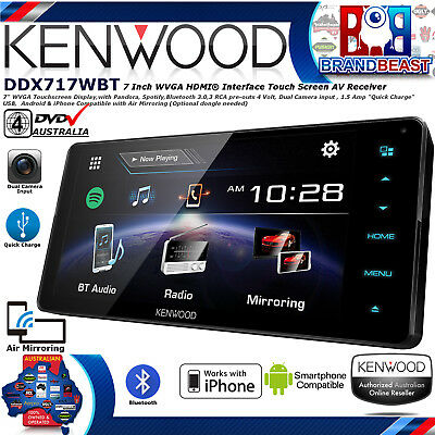 "Kenwood Ddx717wbt 7"" Dvd Screen Bluetooth App Mode Android Iphone Toyota Direc"
