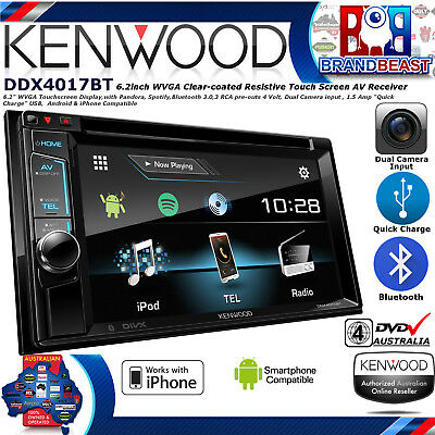 Kenwood Ddx4017bt 6.2 Dvd Screen Dual Bluetooth Usb App Mode Android Iphone Spot