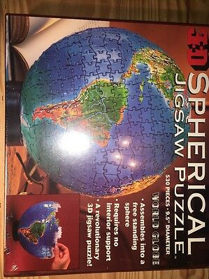Brand New & Sealed - 3D Spherical Jigsaw Puzzle World Globe 530 Pieces