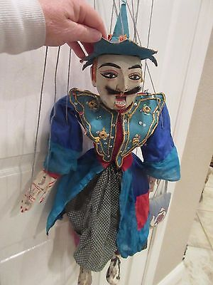 Vintage Burmese(?) Marionette Carved Wood Male as Female