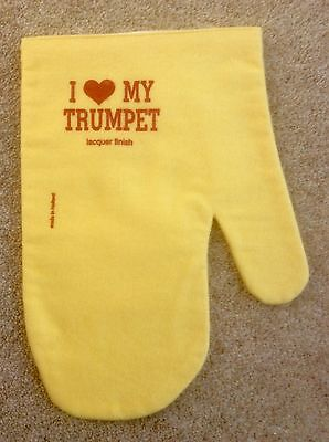 Cleaning/polishing mitt for trumpet (or other brass instrument)