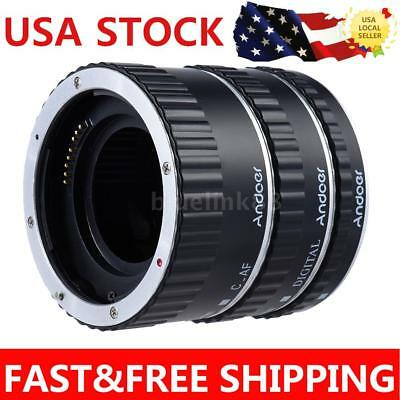 Andoer Colorful Metal TTL Auto Focus AF Macro Extension Tube Ring For Canon R1A4