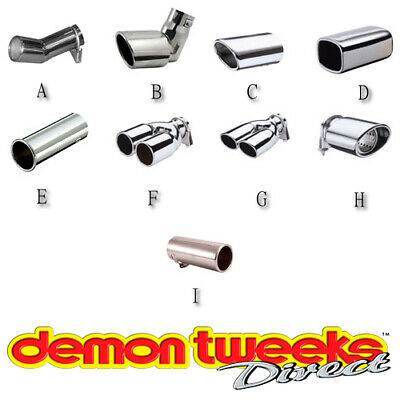 E-Tech Engineering XSI Type Car Exhaust Tail Trim - Large Fits Pipes (55-65mm)