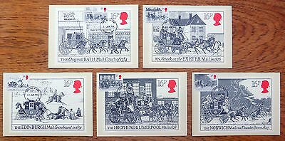GB 1984 Mail Coach PHQ Cards (5) with Date Error 31st June! FP9348