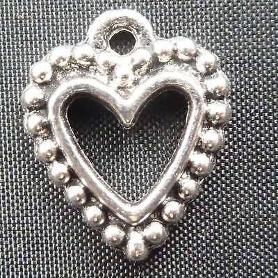 free shipping 90pcs tibet silver heart Charms 18x14mm