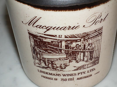 Lindemans Wines Macquarie Port Pottery Bottle With Stopper (Signed)