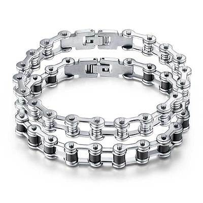 Stainless Steel cycling Bicycle Bike Chain Bracelets Gothic Biker Enthusiast new
