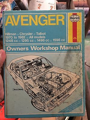 Haynes Hillman Chrysler Avenger MANUAL Book