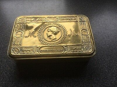 W W 1  1914 Princess Mary Christmas gift Tin Beautiful Condition - Medal Ribbons