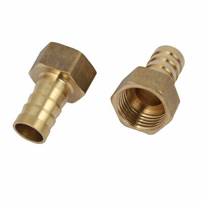 1/2BSP Female Thread 14mm Hose Barb Brass Tubing Coupler Connector Fitting 2pcs