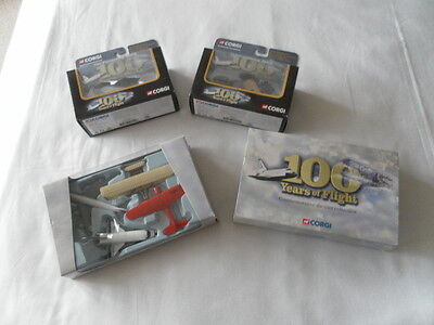 "Corgi "" 100 Years Of Flight "" Die-Cast Model Collection In Excellent Condition"