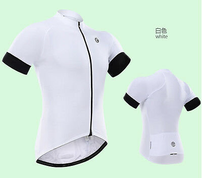 New Fashion outdoor wear short sleeve Men's team cycling jersey,White