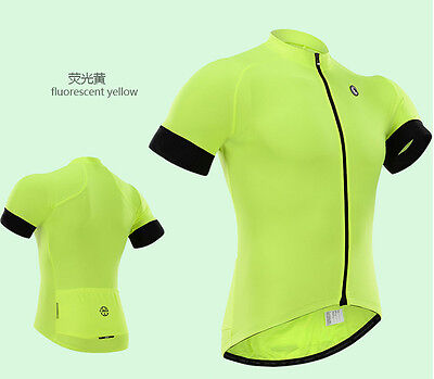 New Fashion outdoor wear short sleeve Men's team cycling jersey,Yellow