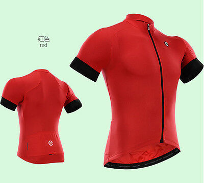 New Fashion outdoor wear short sleeve Men's team cycling jersey,RED