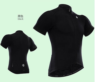 New Fashion outdoor wear short sleeve Men's team cycling jersey,Black