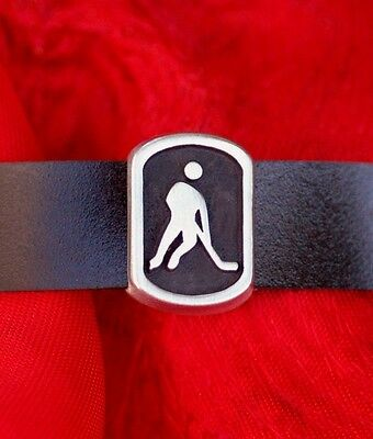 A Unique Ice Hockey Player Design Handmade Pewter Wristband @ Only £14.95p !