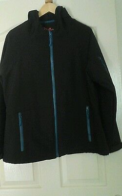 Ladies Black Size 18 Water Resistant/windproof Jacket Brand New
