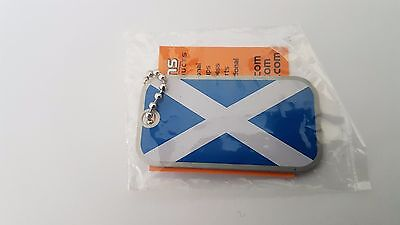 Geotag Geocaching Trackable Scotland Saltire Flag - Unactivated